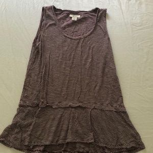 Style & Co. Striped Sleeveless Top, Size S